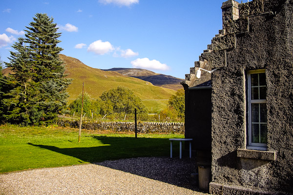 Gate Lodge North view of the expansive grounds and hills