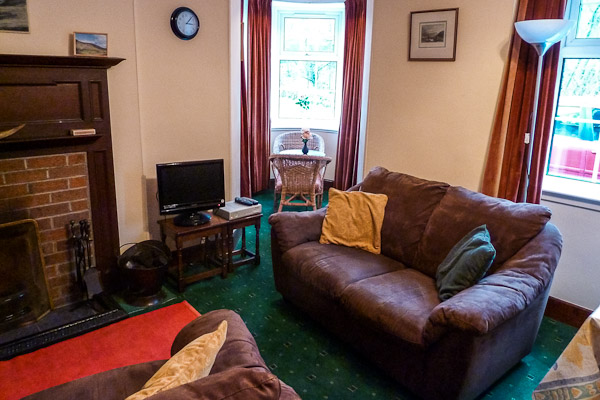 Gate Lodge South cozy sofa in the living room
