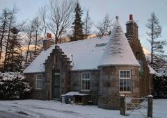 Gate Lodge North in winter season