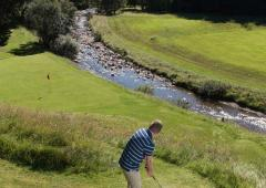 Dalmunzie Golf Club with stunning mountain scenery