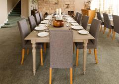 Dining Table set for 10 at Dalmunzie House